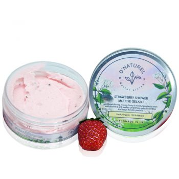organic and natural shower mousse gelato