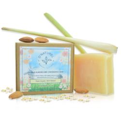 organic oatmilk almond and lemongrass soap