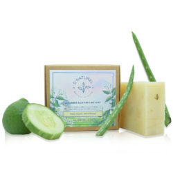 organic cucumber aloe vera and lime soap